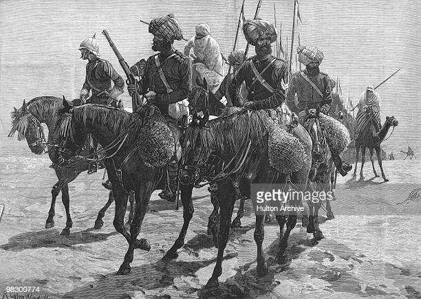 The British Indian Cavalry on the road to Cairo during the AngloEgyptian War 1882 From a sketch by R Caton Woodville Original Publication Illustrated...