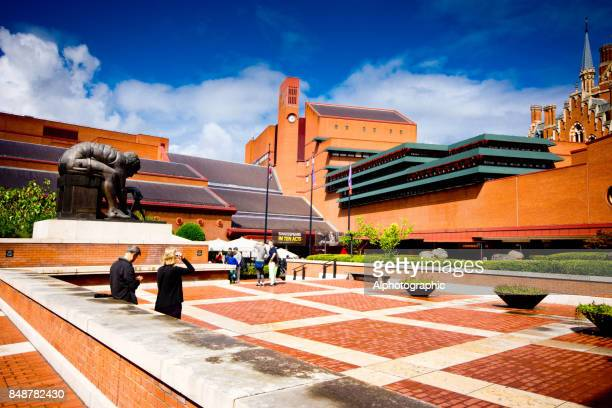 The British Library entrance on Euston Road