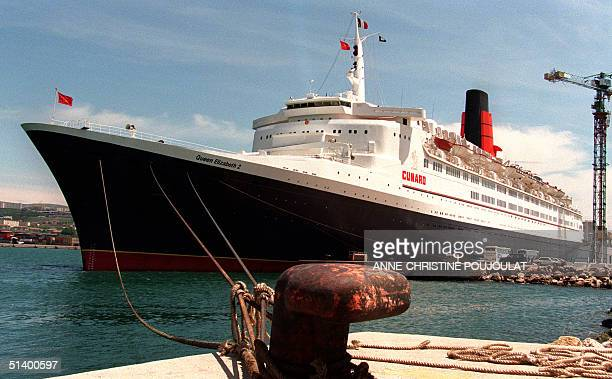 The British liner Queen Elisabeth II is anchored in the harbour of Marseille 12 May 1996 for a 12 hour stopover The 70000 tonnr QEII who has been...