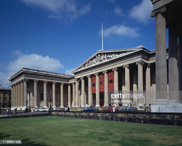 The British Museum in London during the Viking exhibition, circa 1980.