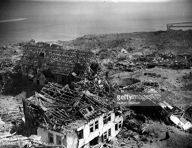 The British Navy destroyed German military fortifications on the island of Helgoland during Operation Big Bang 1947