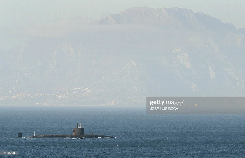 The British nuclear submarine HMS Tireless crosses the