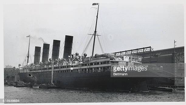 The British ocean liner SS Lusitania whose sinking by a German submarine on its New YorkLiverpool route May 7 indirectly initiated the United States'...