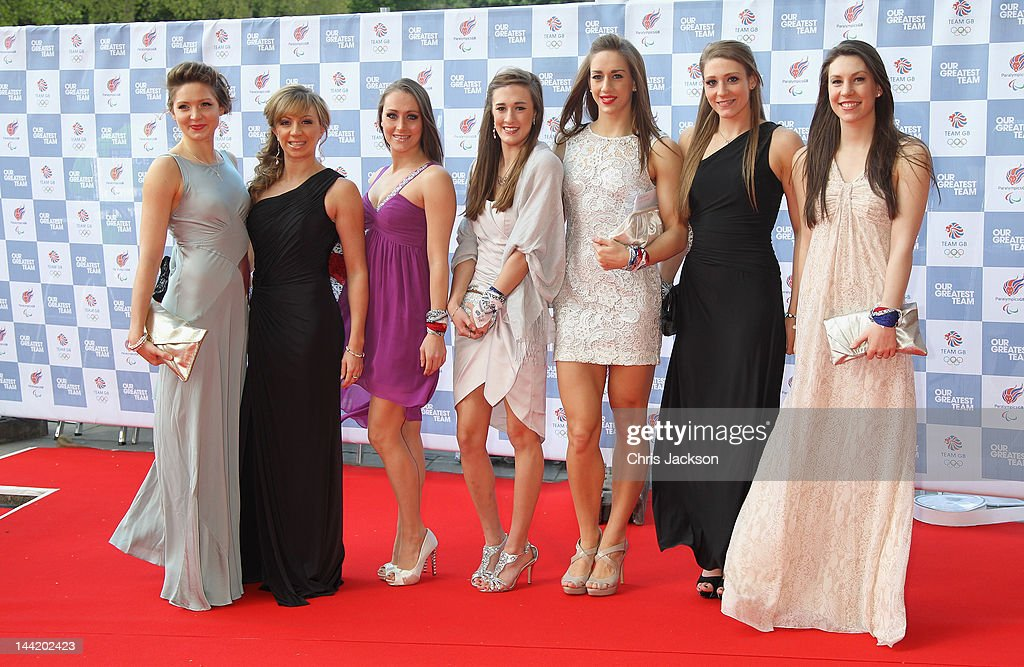 The British Olympic Synchronised swimming team arrive at 'Our Greatest Team Rises -BOA Olympic Concert' at the Royal Albert Hall on May 11, 2012 in London, England.