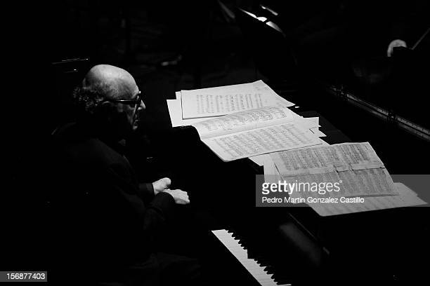 The British pianist and composer Michael Nyman presents and his band present his show as cine director and composer at the Teatro de la Ciudad on...