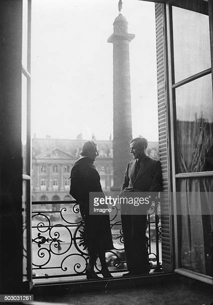 The British pilots Amy Johnson and Jim Mollison in Paris at the Ritz hotel 1932 [] Photograph
