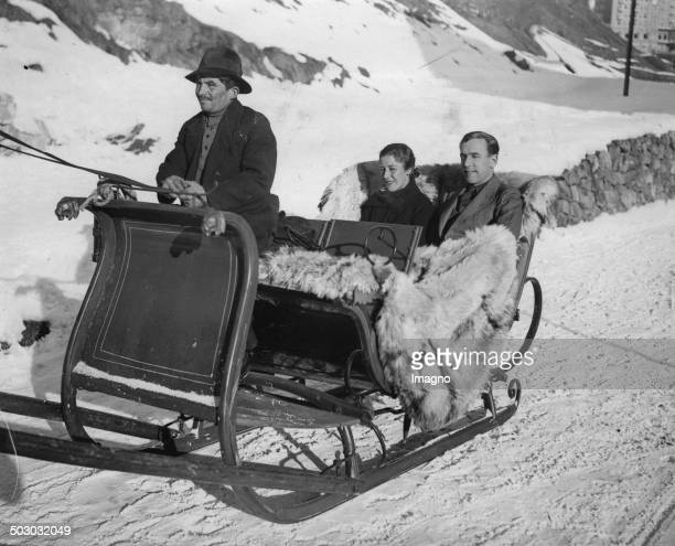 The British pilots Jim Mollison and Amy Johnson in St Moritz About 1933 Photograph