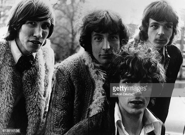 The British pop group Pink Floyd Roger Waters Nick Mason Syd Barrett and Richard Wright