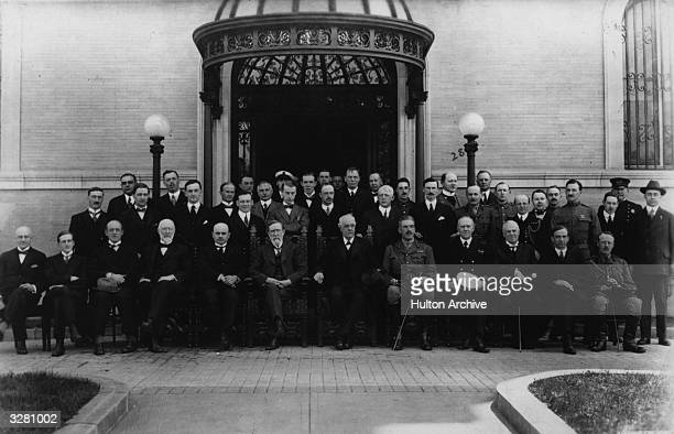 The British Prime Minister and diplomat Arthur Balfour at the British Commission in the United States May 21 1917