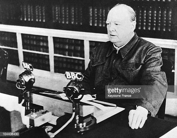 The British Prime Minister Winston CHURCHILL gave the speech he just delievered at the House of Commons I have nothing to offer but blood toil tears...