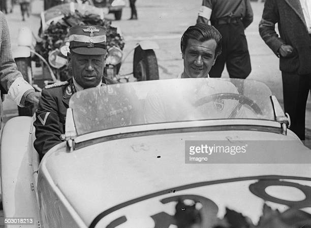The British racing driver AFP Fane wins on BMW in the small race cars division the International Eifel Race Nürburgring 13th June 1937 Photograph
