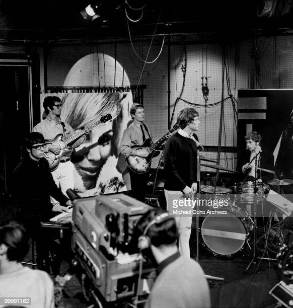 The British Rock and Roll group Manfred Mann perform on the TV show Ready Steady Go in January 1964 in London England