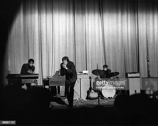 The British Rock and Roll group Manfred Mann perform onstage circa 1965 in New York City New York