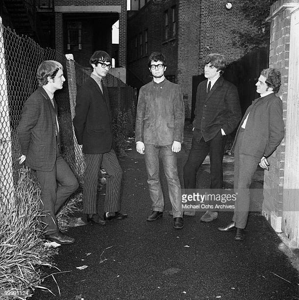The British Rock and Roll group Manfred Mann pose for a portrait circa 1964 in London England