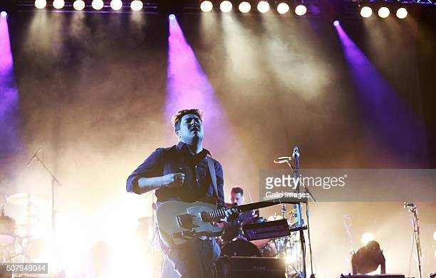 The British rock band Mumford Sons on stage at the Grand Parade on January 29 2016 in Cape Town South Africa Mumford Sons are performing in Durban on...