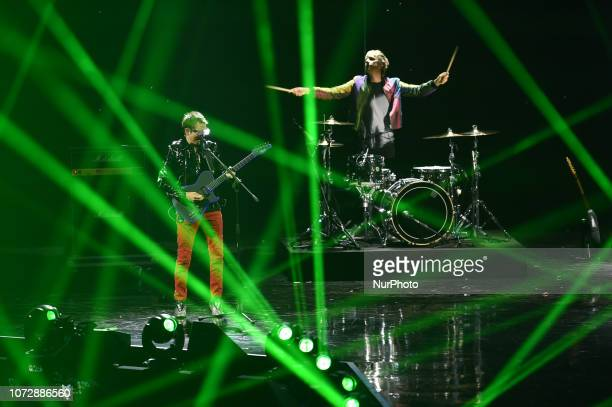 The British rock band Muse guest of the twelfth Italian edition of the international X-Factor singing in Mediolanum forum for the FInal
