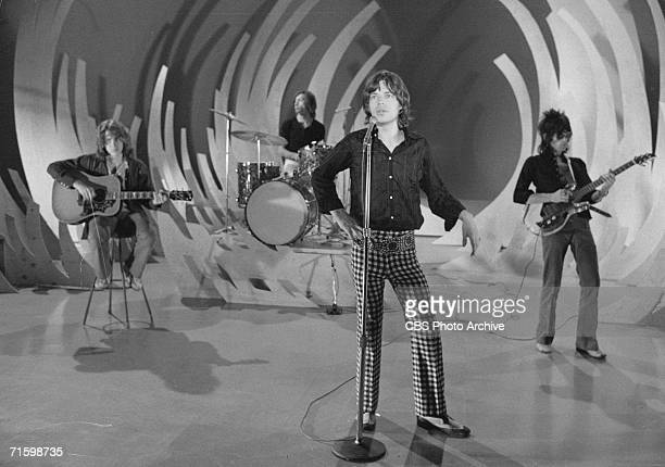 The British Rock band the Rolling Stones in a rehearsal for an appearance on the CBS variety program 'The Ed Sullivan Show,' New York, November 19,...