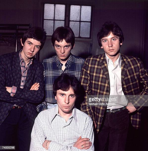"""The British rock group """"The Small Faces"""" poses for a portrait in 1967. Ronnie Lane, Steve Marriott, Kenney Jones, Jimmy Winston ."""
