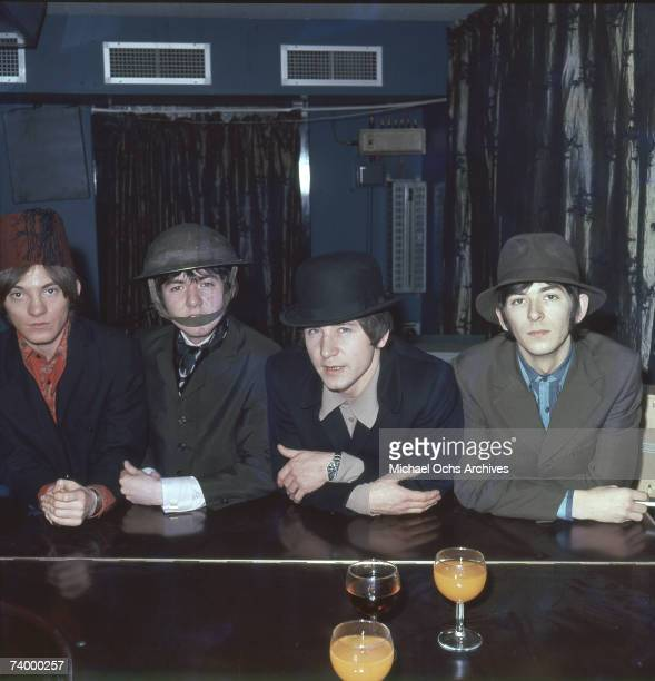 """The British rock group """"The Small Faces"""" poses for a portrait in 1967. Steve Marriott, Ronnie Lane, Kenney Jones, Ian McLagan."""