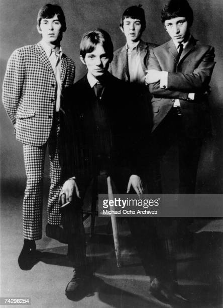 """The British rock group """"The Small Faces"""" poses for a portrait in 1967. Ian McLagan, Steve Marriott, Ronnie Lane, Kenney Jones."""