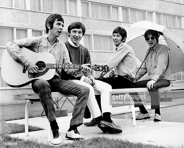 """The British rock group """"The Small Faces"""" poses for a portrait in 1967. Ronnie Lane, Kenney Jones, Ian McLagan, Steve Marriott."""