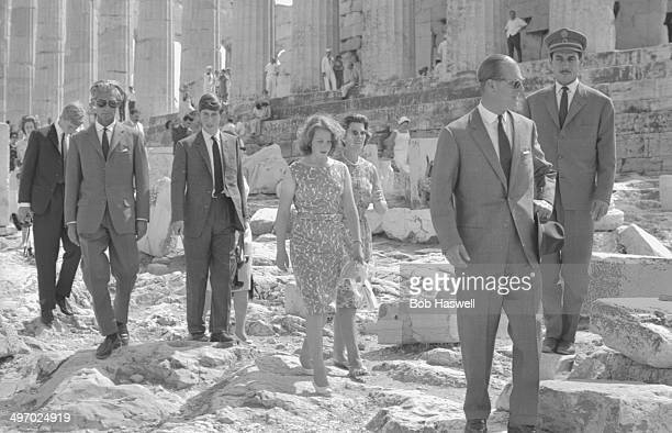 The British Royal family visiting the Parthenon in Athens Prince Philip Prince Charles Princess Anne Prince Georg and Princess Sophie Greece 1964