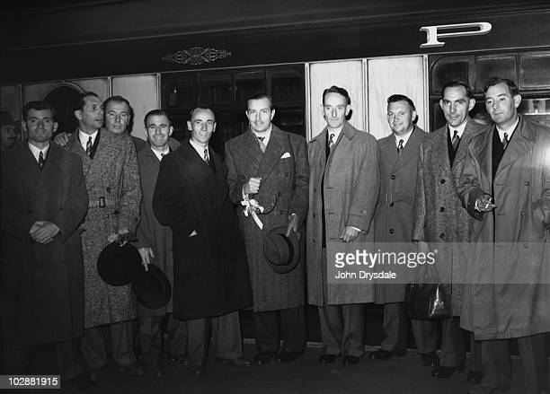 The British Ryder Cup team leave Waterloo Station in London for the United States 18th October 1947 They are taking the boat train to Southampton...