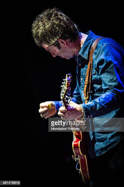 The British singer and musician Noel Gallagher live in concert Chasing Yesterday Tour Assago Summer Arena Milan 6th July 2015