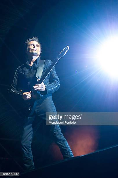 The British singer Matthew Bellamy Matthew James Bellamy frontman of the Muse during the concert at the Ippodromo Capannelle Rome 18th July 2015