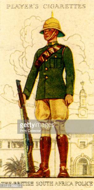 The British South Africa Police' 1936 From Military Uniforms of the British Empire Overseas [John Player Sons 1936] Artist Unknown