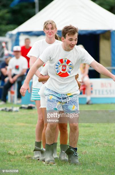 The British Steel Gala the It's a Knockout competition the 'Arabian Nights' team 4th July 1993