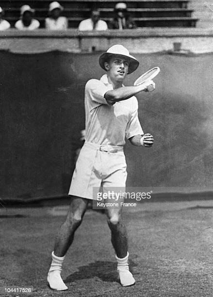 The British tennis player Bunny AUSTIN launches fashion shorts tennis at Forrest Hills in New York September 15 1932