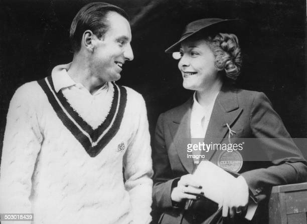 The British tennis player Fred Perry and his wife the actress Helen Vinson. New York. 12th September 1935. Photograph.