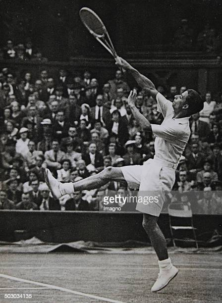 The British tennis player Henry Wilfred Austin or also called Bunny Austin at the DavisCup at Wimbledon July 1937 Photograph