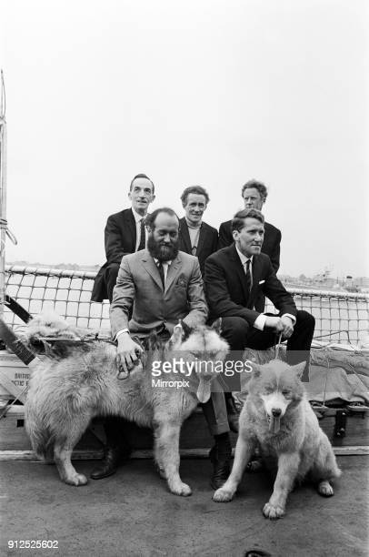 The British TransArctic Expedition led by Wally Herbert pictured on their return to Portsmouth in HMS Endurance The expedition members are Freddie...