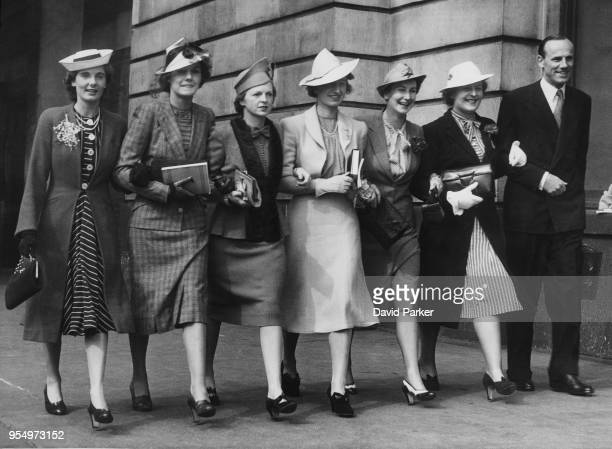The British Wightman Cup team arrive at Waterloo Station in London bound for New York where they will meet the US women's team at Forest Hills 2nd...