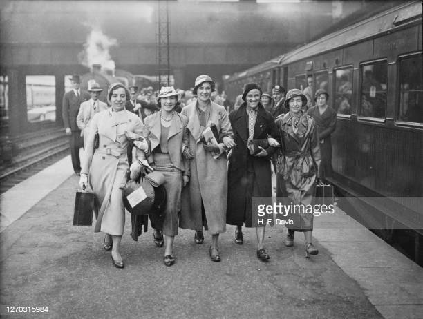 The British Women's International Athletic Team leave Victoria Station in London for Brussels in Belgium, where they will compete in a series of...