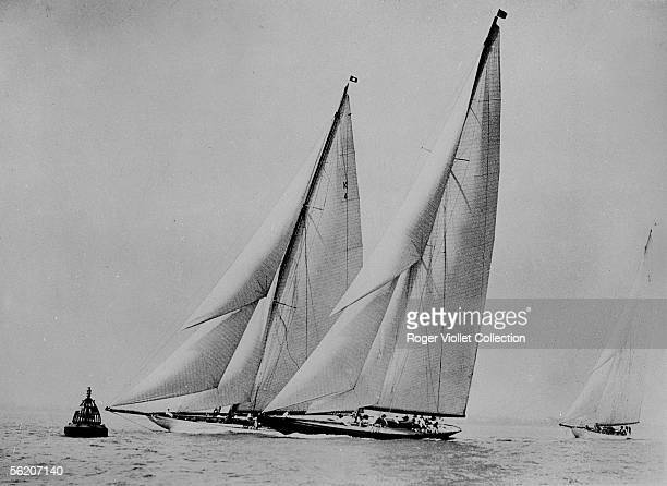 The British yacht Shamrock V built by sir Thomas Lipton to take part in America's cup of 1930