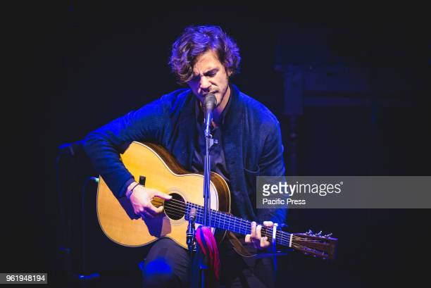 The British/Italian singer and song writer Jack Savoretti performing live on stage at the Teatro Alfieri for his Acoustic Nights Live tour concert