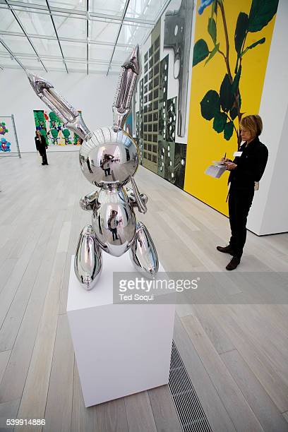 The Broad Contemporary Art Museum has over 200 contemporary works of art on display including Jeff Koons' sculpture Rabbit 1986 pictured in a...