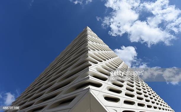 The Broad Museum, Los Angeless newest contemporary art museum, during a press preview, September 16 in Los Angeles, California. The Broad, which...