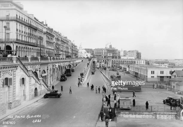The broad street leading down to the docks at Algiers Algeria