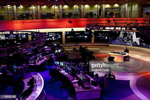 DOHA QATAR MARCH 22 The broadcast center of the Al Jazeera English news channel on March 22 2011 in Doha Qatar
