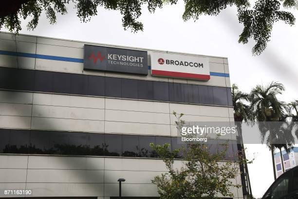 The Broadcom Ltd headquarters stands in Singapore on Tuesday Nov 7 2017 BroadcomChief Executive Officer Hock Tan is gearing up for what could be a...