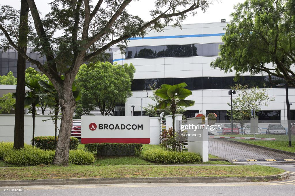 The Broadcom Ltd Logo Is Displayed Outside The Companys Headquarters In Singapore On Tuesday