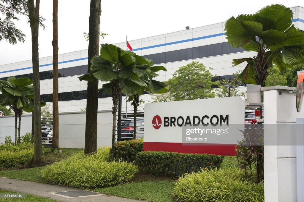 The Broadcom Ltd  logo is displayed outside the company's