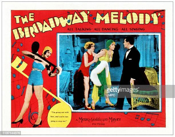 The Broadway Melody lobbycard inset from left Bessie Love Anita Page Charles King on lobbycard 1929