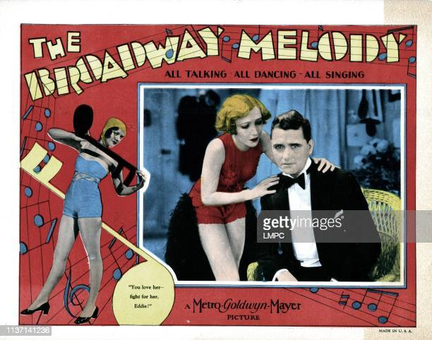 The Broadway Melody lobbycard inset from left Bessie Love Charles King 1929