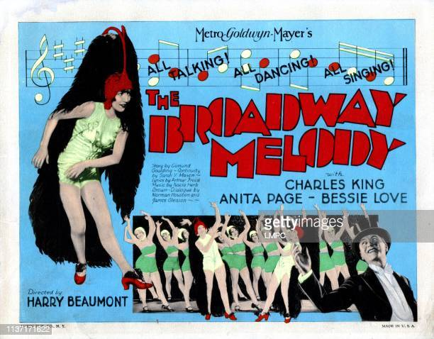 The Broadway Melody poster left and right Bessie Love Charles King 1929