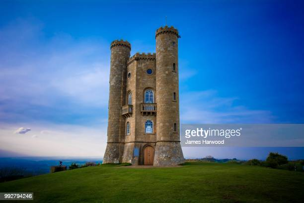 the broadway tower - chateau stock pictures, royalty-free photos & images